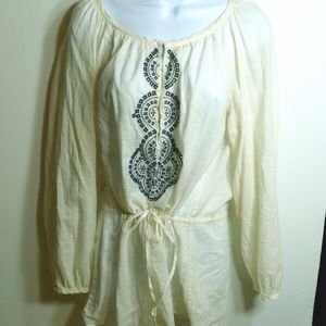 Banana Republic Embroidered Boho Tunic